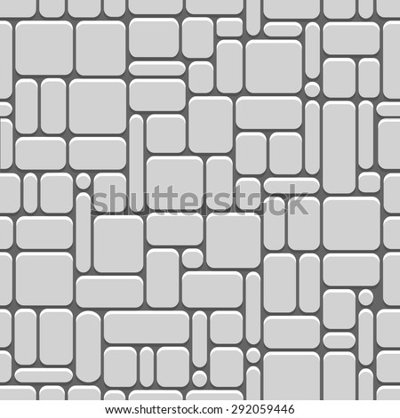 Stylized stone wall. Seamless vector pattern - stock vector
