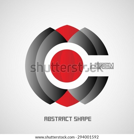 Stylized target logo design template - stock vector