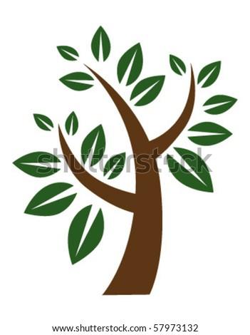 stylized tree - stock vector