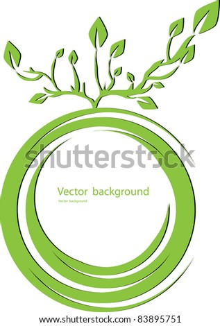 Stylized tree - stock vector