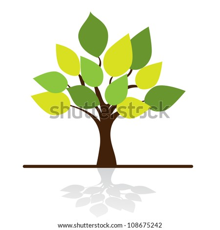 stylized tree and place for you text - stock vector