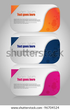 stylized web banner set - stock vector