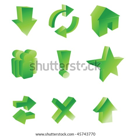 Stylized web icons over white background - stock vector