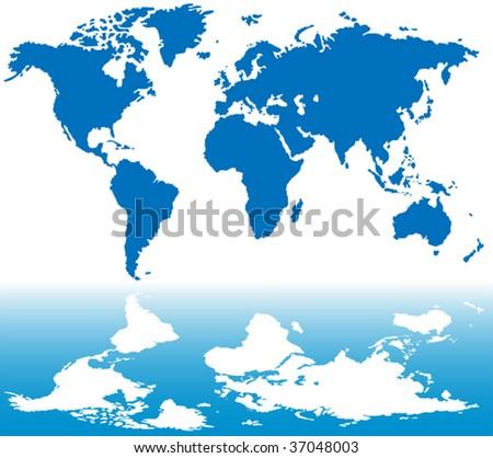 Stylized world map background - stock vector