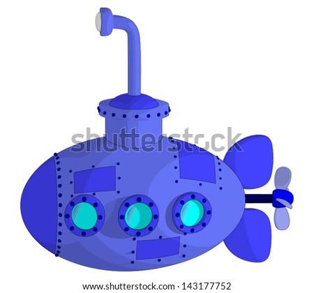 Submarine - stock vector