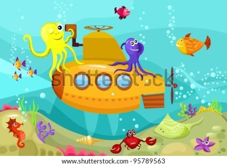 submarine - stock vector