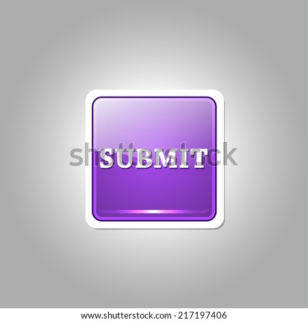 Submit Glossy Shiny Rounded Corner Vector Button - stock vector