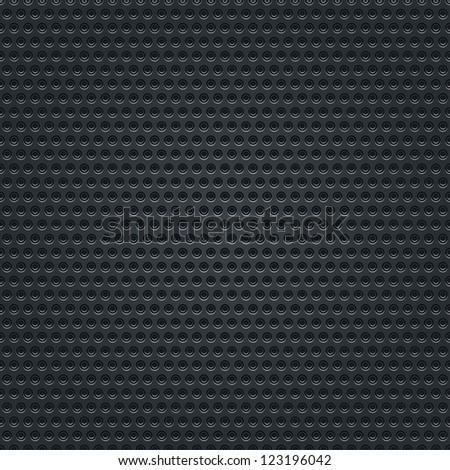 Subtle pattern black background seamless texture perforated metal surface with double circular holes. Clip-art vector illustration web design elements saved 8 eps. Contemporary swatch modern style - stock vector