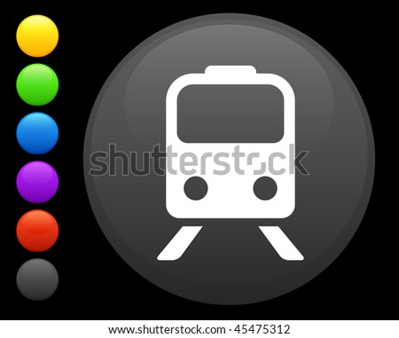 subway icon on round internet button original vector illustration 6 color versions included - stock vector