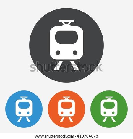 Subway Icon Train Underground Symbol Circle Stock Vector 410704078