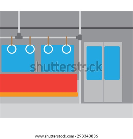 Subway interior nobody vector background - stock vector
