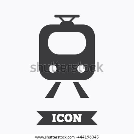 Subway Sign Icon Train Underground Symbol Stock Vector 444196045