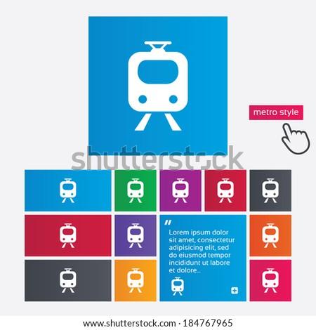 Subway Sign Icon Train Underground Symbol Stock Vector 184767965