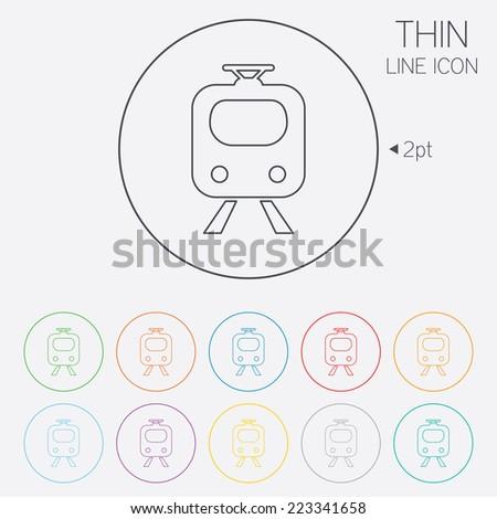 Subway Sign Icon Train Underground Symbol Stock Vector 223341658