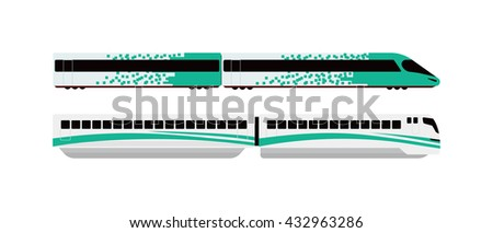 Subway tunnel underground train light tracks with arriving underground train opposite direction. Concept modern metro underground transport and connection speed underground passenger train. - stock vector