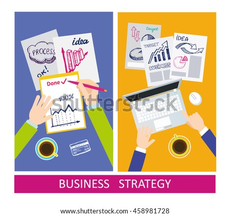 success business concept flat design concepts stock vector royalty