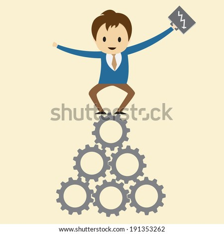 Success concept on the base of cooperation. - stock vector