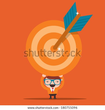 success concepts,goal - stock vector