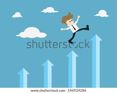 Success in business - self development. vector illustration.