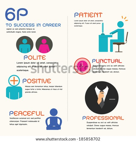 success in career, infographic. - stock vector