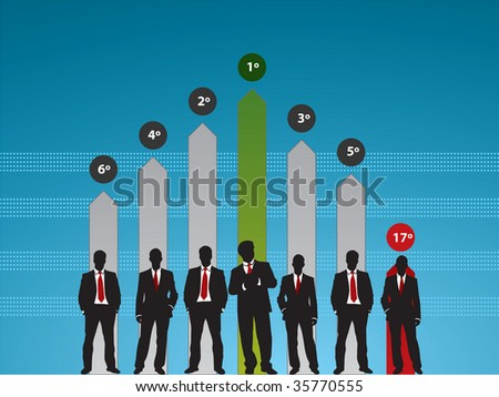 success people in business graph finance