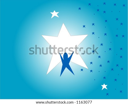 Success reach for the stars illustration - stock vector