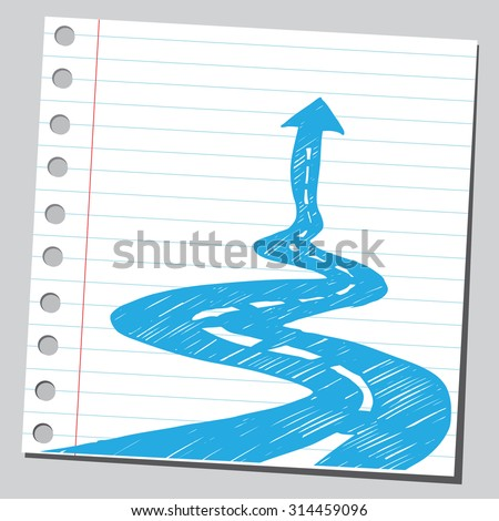Success road - stock vector