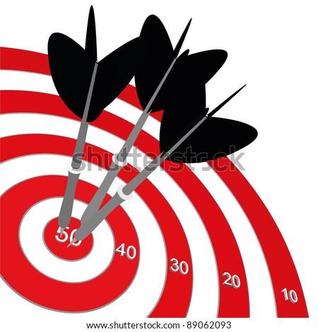 Success target - stock vector