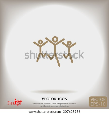 success team vector icon - stock vector