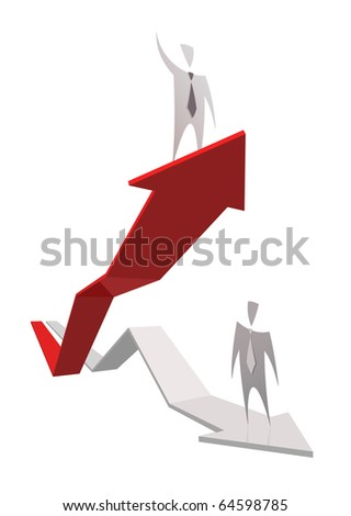 Successful business graph - stock vector