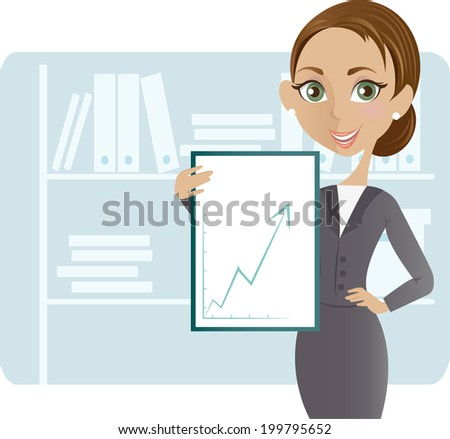 Successful  Business Woman - stock vector