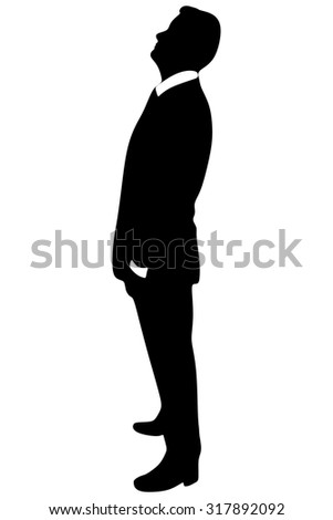 successful businessman looking up