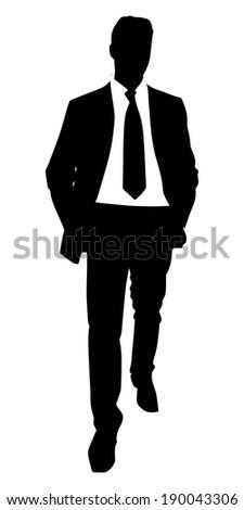 successful businessman, vector  - stock vector