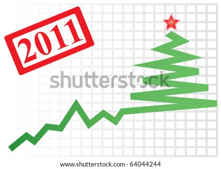 Successful New year's graph. Vector illustration for you design - stock vector