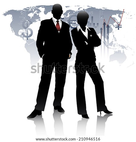 Successful top executives. - stock vector