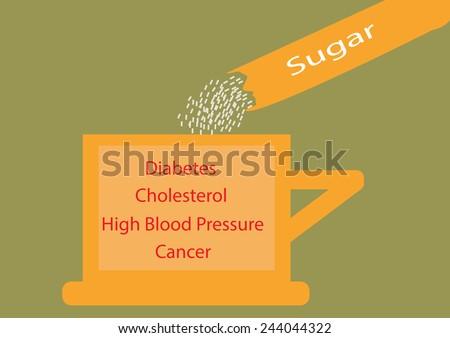 Sugar free for drinks.Vector illustration - stock vector