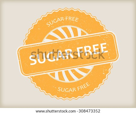 Sugar free grunge rubber stamp.Vector illustration.