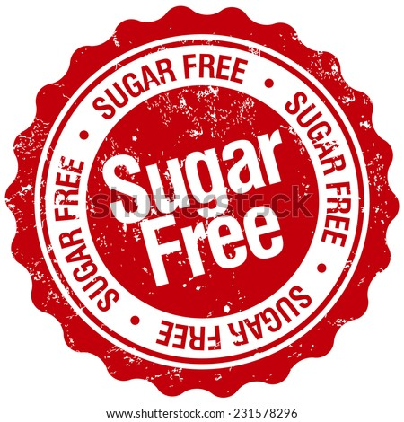 sugar free stamp - stock vector