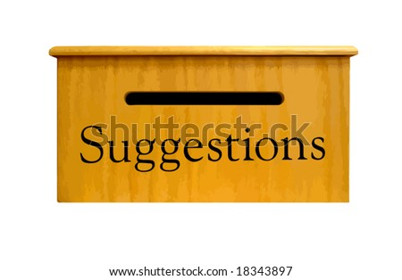 Suggestion Box made of wood. Isolated. VECTOR.