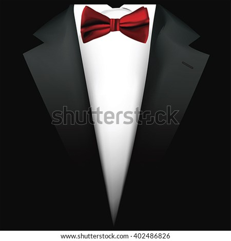 Suit background with bow tie