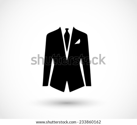 Suit icon vector - stock vector