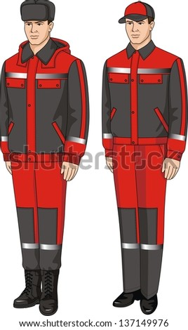 Suit special winter and summer for men - stock vector
