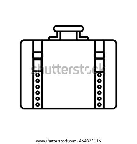 suitcase baggage luggage travel icon. Isolated and flat illustration. Vector graphic