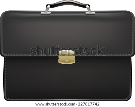 Suitcase briefcase suit case vector illustration - stock vector