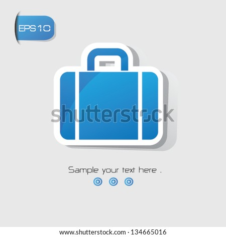 Suitcase sign,vector - stock vector