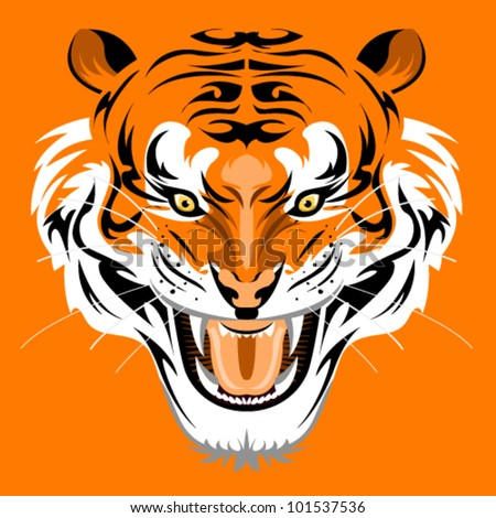 Sumatran Tiger - stock vector