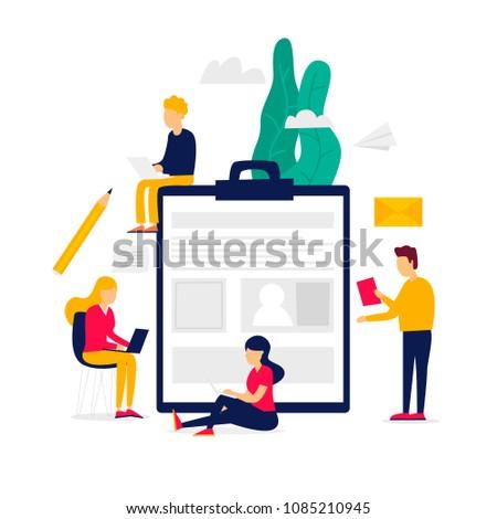 Summary Application Form Employment Recruitment Agency Stock Vector