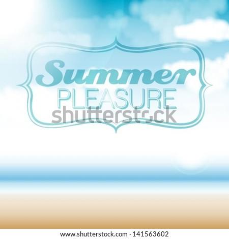 summer - stock vector