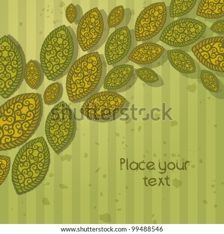 summer Abstract floral background with place for your text 5 - stock vector