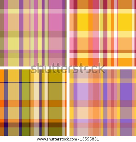 Summer-and-autumn collection of plaid. Seamless pattern - stock vector
